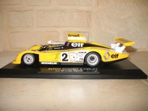 Alpine Renault A442 Le Mans 1978. vue profil