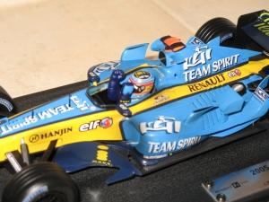 Renault F1 Team - R25 (2005) - FA - CDM pilotes. vue pilote