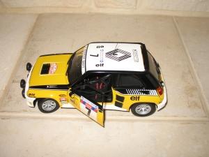 Renault R5 maxi turbo Tour de Corse 1982. vue dessus