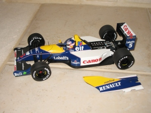 Williams Renault - FW14 (1991) - NM. vue moteur