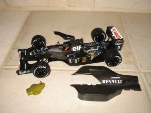 Williams Renault - FW14B (1992) - version carbon essais. vue moteur