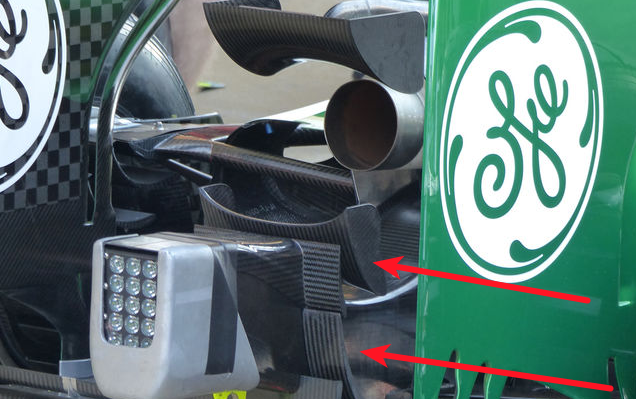 Caterham CT05 new diffuser